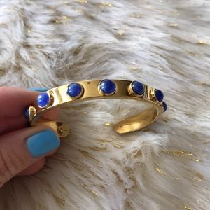 Kate spade bangle gold with blue stones